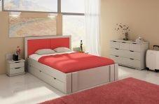 Łóżko sosnowe Visby Kronoberg High Drawers (z szufladami)