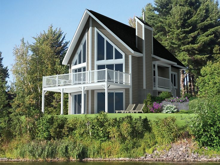 104 best waterfront house plans images on pinterest for 2 story lake house