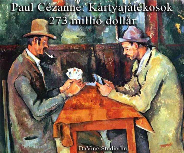 A világ legdrágább festményei: Cézanne 273 millió USD   Összeszedtük hát az idevágó legfontosabb tudnivalókat és történeteket. Sorakozzanak hát a világ legdrágább festményei!