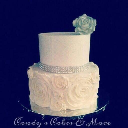 Small wedding cake for a small wedding reception.