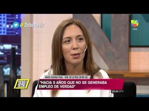 María Eugenia Vidal defendió la honestidad de Macri