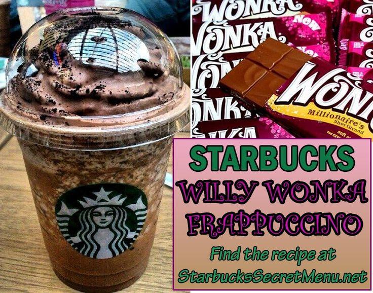 Got a sweet tooth? Try Starbucks Willy Wonka Frappuccino! #StarbucksSecretMenu Recipe: http://starbuckssecretmenu.net/starbucks-secret-menu-willy-wonka-frappuccino/