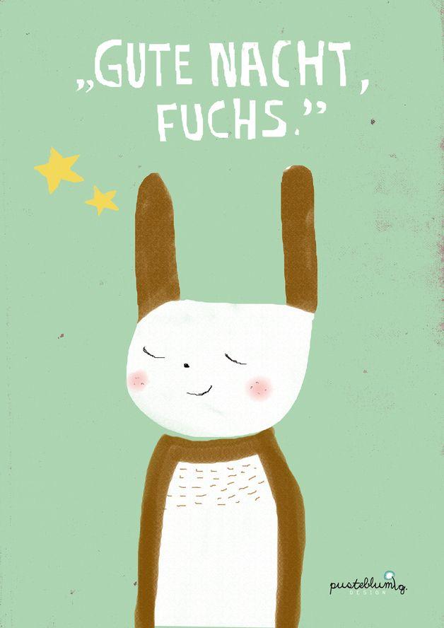 """Niedliches Poster-Set für das Kinderzimmer """"Wo Fuchs und Hase"""" / children artprint """"fox and rabbit"""" by Vronii22 via DaWanda.com"""