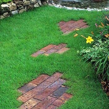 Cool DIY brick garden path http VintageBricks