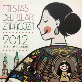 Cartel de las Fiestas del Pilar 2012 por Víctor Meneses