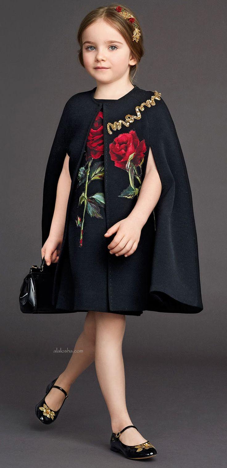 ALALOSHA: VOGUE ENFANTS: Night roses: Dolce&Gabbana's IT dress for little girls