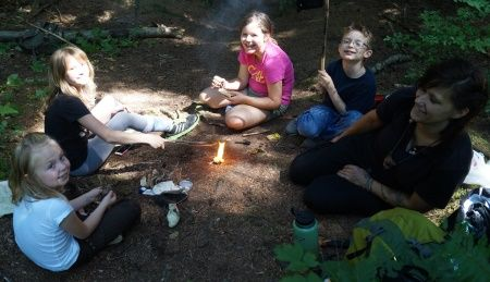 2016 Alderleaf Wilderness Skills Summer Day Camp Jul 11-15 10am-4pm, M-F; Monroe, WA; ages 6-12; Learn about wild edible plants, birding, wilderness survival, ecology, wildlife tracking, & more thru exciting adventures, activities, crafts, & games. Explore our forests, creeks & meadows. Learn about plants, trees, birds, insects, mammals, & other species local to the Pacific Northwest. Thru our nature curriculum, students also gain respect, responsibility, communication, & teamwork skills.