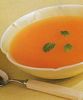 Find the recipe for Cold Cantaloupe and Mint Soup and other cantaloupe recipes at Epicurious.com