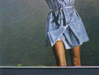 Quadro com tendência/ acrílico sobre tela/16x21 cm./1993