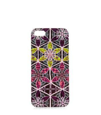 New Look Pink Abstract Print iPhone 5 Case #accessories #covetme