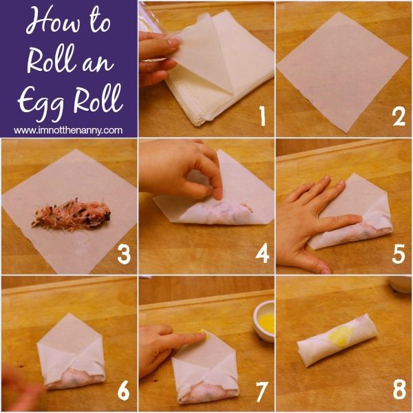 How to Roll An Egg Roll via I'm Not the Nanny #typeaparent