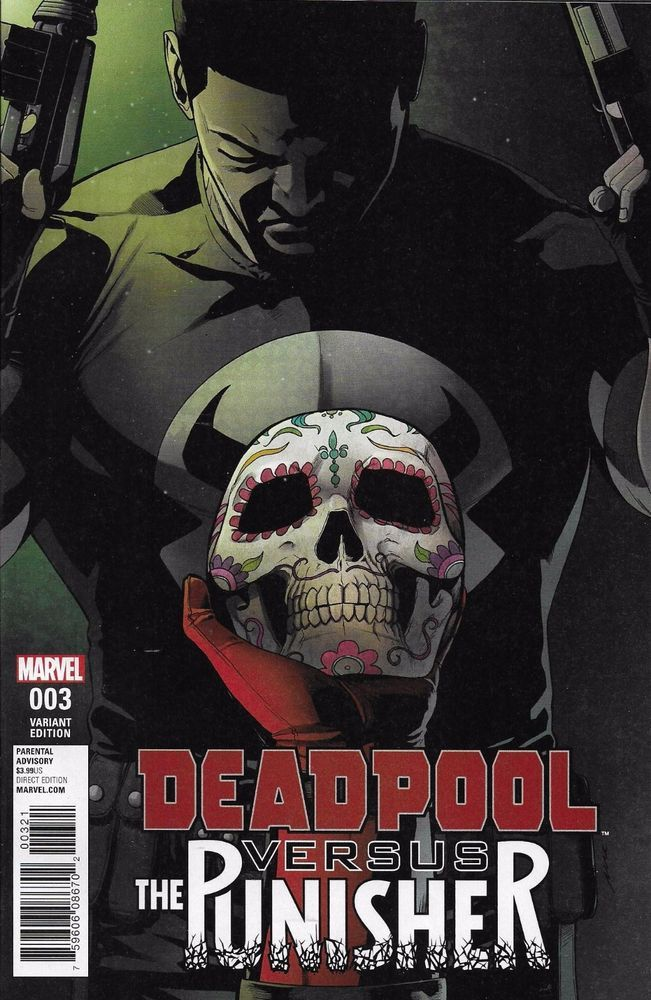Marvel Deadpool vs The Punisher comic issue 3 Limited variant