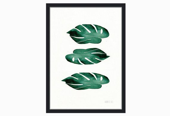 Botanical watercolor print - to purchase from my Etsy shop: TheClayPlay