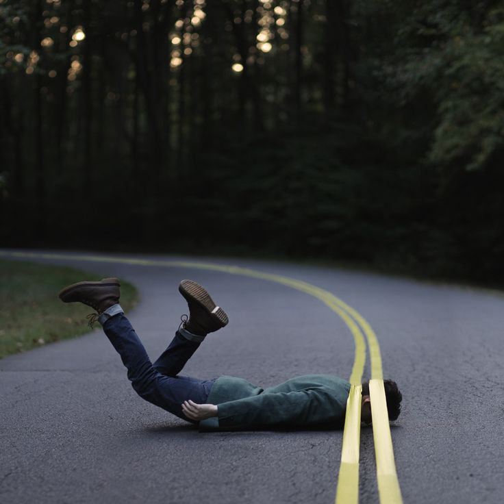 This is one of Ben's favorite shots. He put down yellow tape to imitate road lines.
