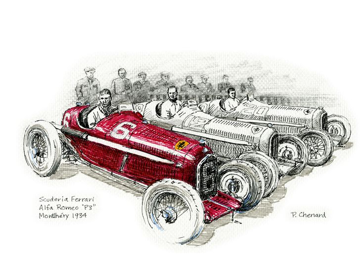 Art from the book: Grand Prix de France – July 1st, 1934. Available as a limited edition.