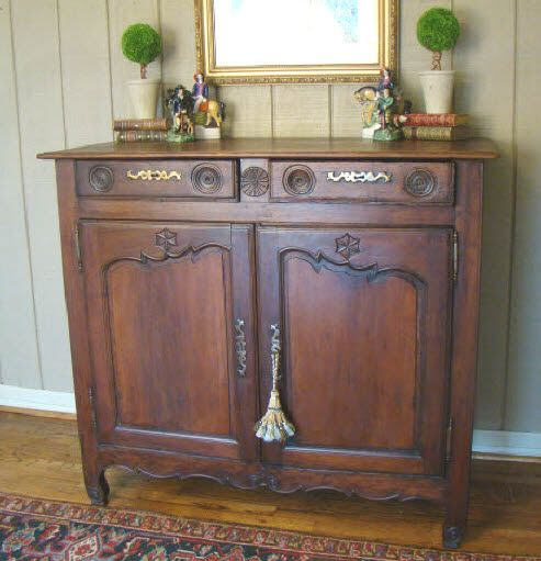 Vintage Furniture For Sale Online: Antique French Country Buffet Sideboard Server 1800's For
