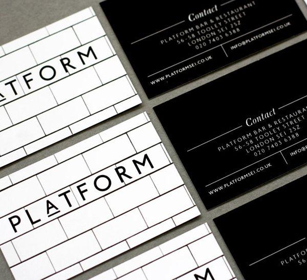 358 best business cards images on pinterest carte de visite logo and business card for london bar and restaurant platform designed by substrak reheart Images