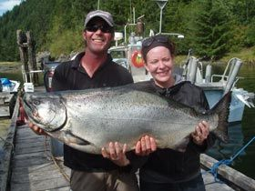 Fishing in the Nootka Sound of BC Canada is amazing.