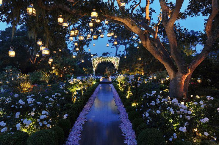 enchanted garden wedding walkway to the ceremony