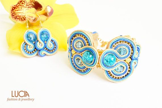 Check out this item in my Etsy shop https://www.etsy.com/listing/521748941/beige-and-turquoise-soutache-set