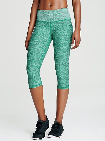 Knockout by Victorias Secret Crop-black/girly green color