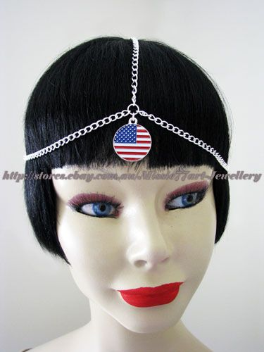 USA flag headpiece. Available from Missie77art Jewellery on ebay
