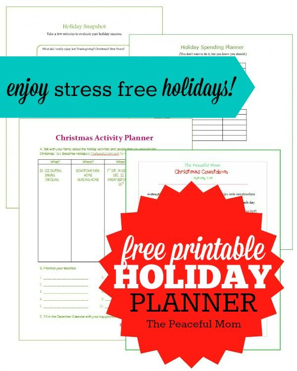 stress free holidays planner printables seasons activities and the o 39 jays. Black Bedroom Furniture Sets. Home Design Ideas