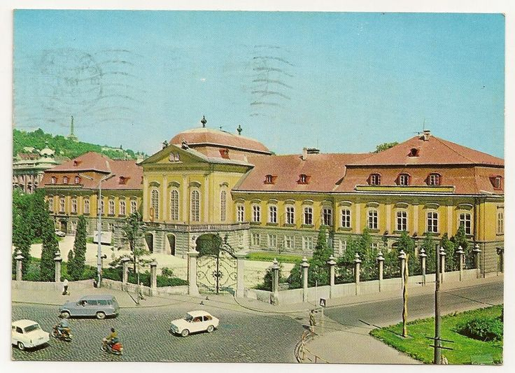 stamp and postcard: The look of Bratislava 2.18.circa 1973 dom pionierov a mladeze K.Gottwalda.prezidentsky palac