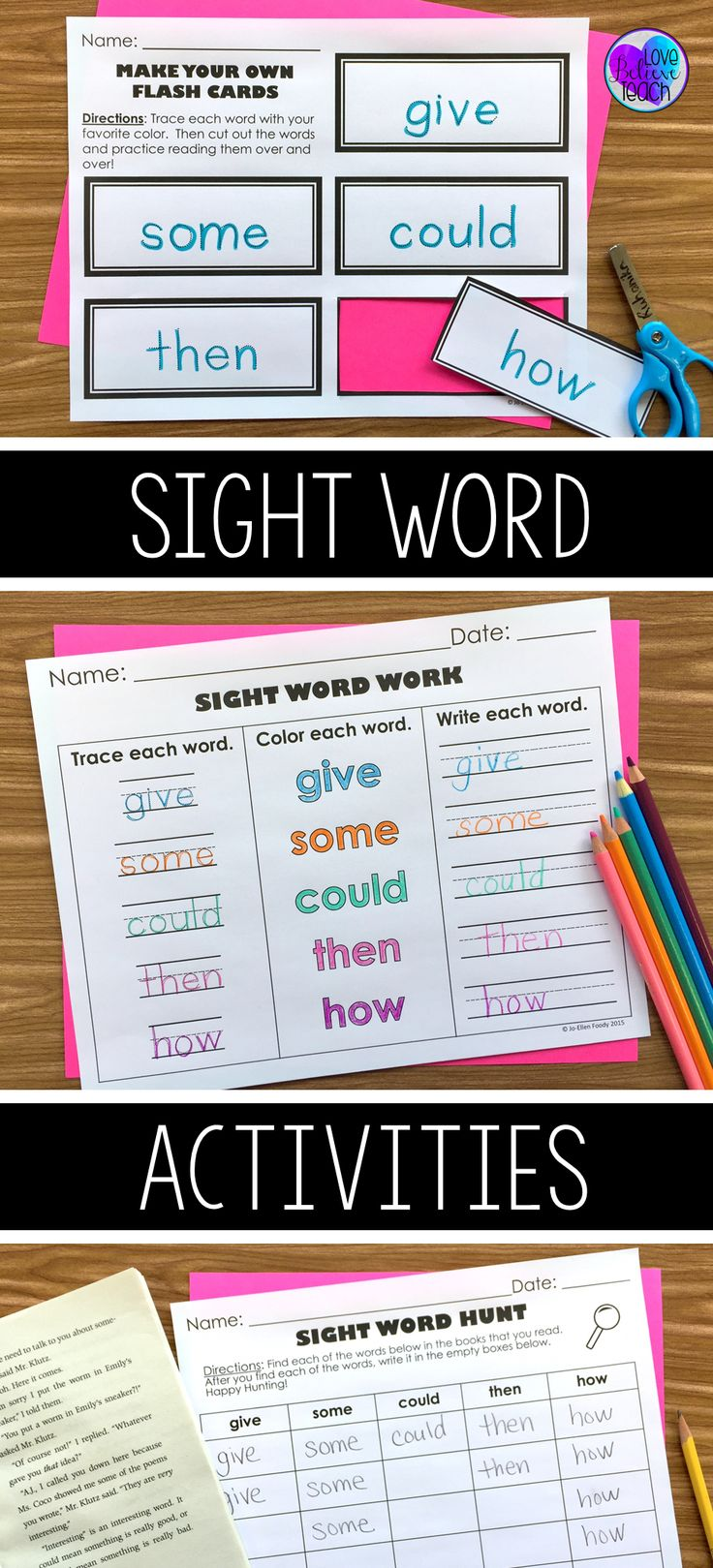Need sight word games and activities so your students can practice their high frequency words?  These weekly activities students can learn to do on their own and are perfect for centers, bell work, and homework.  They are perfect for kindergarten to third grade.  Click to learn more about how you can make them a part of your week!