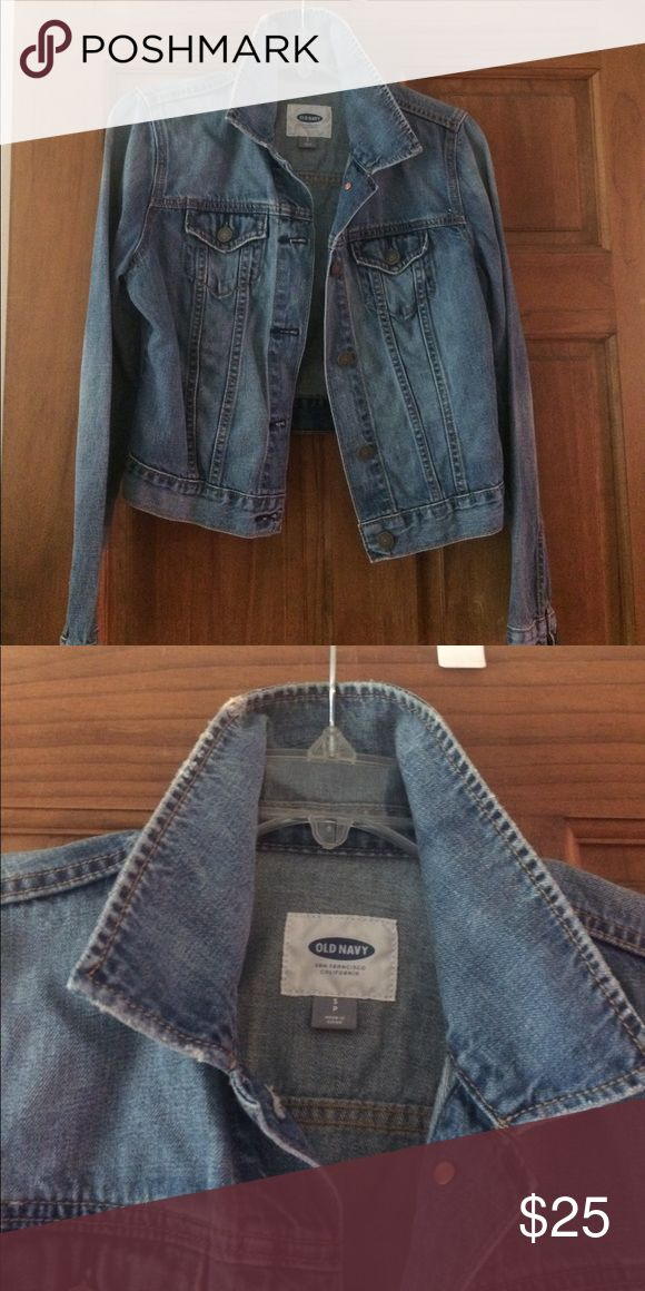 Old Navy jean jacket. Like new small Old Navy jean jacket. Like new small, somewhat factory distressed worn once Old Navy Jackets & Coats Jean Jackets