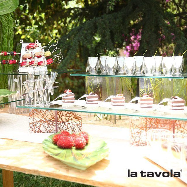 As the weather warms up, the Mineral & Organic buffet display risers are the perfect complement to al fresco dining