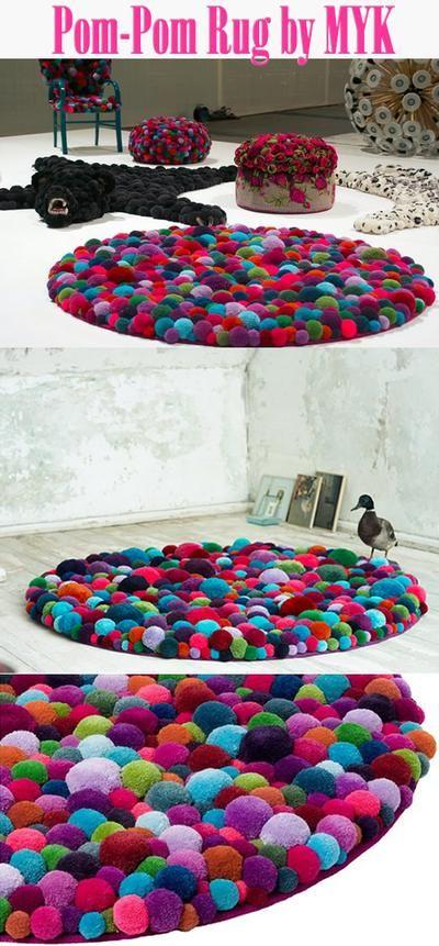Bekijk de foto van craft-craft met als titel Pom-pom tapijt en andere inspirerende plaatjes op Welke.nl.