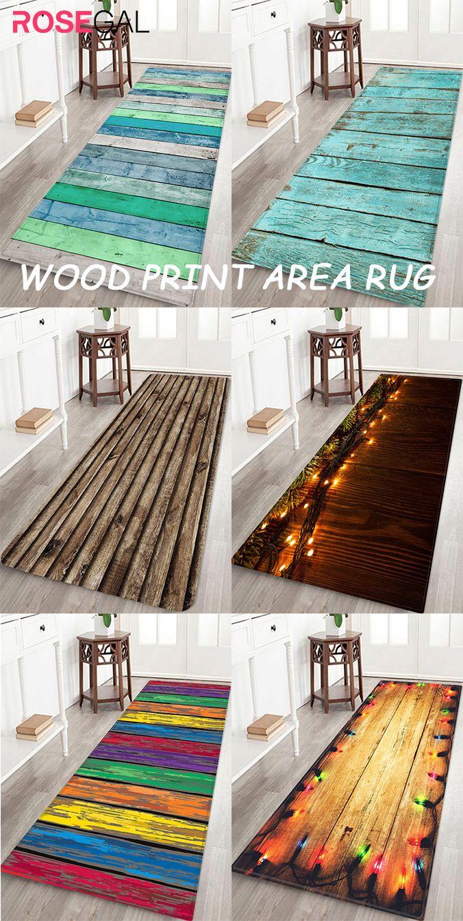 Vintage Rustic Bamboo Kitchen Area Rug Bedroom Carpet Living Room Floor Door Mat