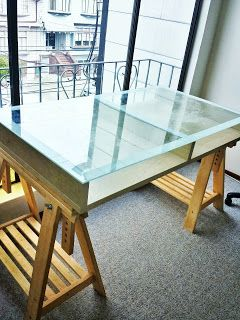 Materials: A 2 X 1 Coffee Table Birch, (2) FINNVARD Trestle Birch ·  Drafting DeskDrafting TablesGlass Top ... Part 82