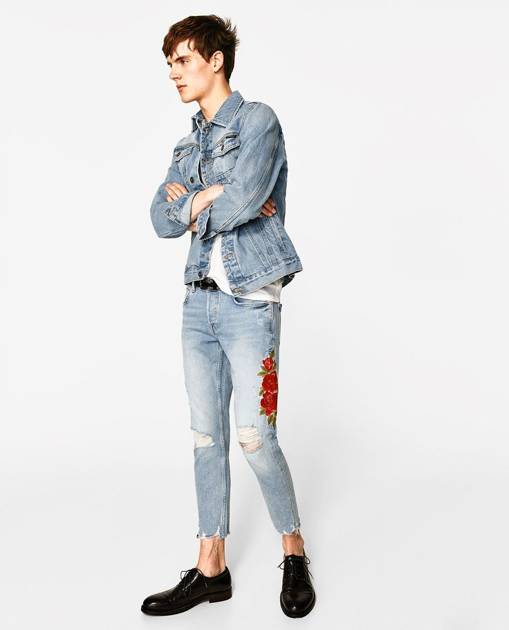 ZARA - MAN - EMBROIDERED JEANS