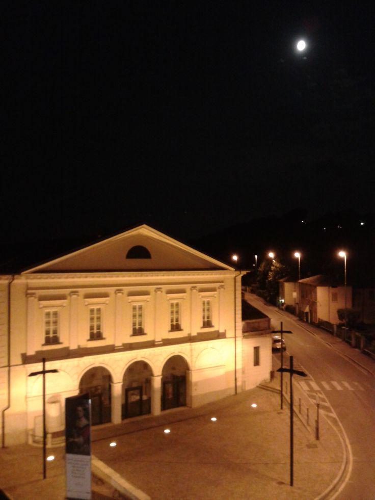 Bibblioteca di Montichiari vista dalla terrazza dell'Hotel Elefante