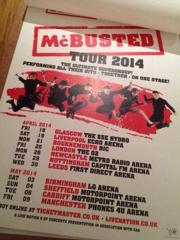 McBusted tour, actually can't wait for 09/05/14 ahhh buzzing
