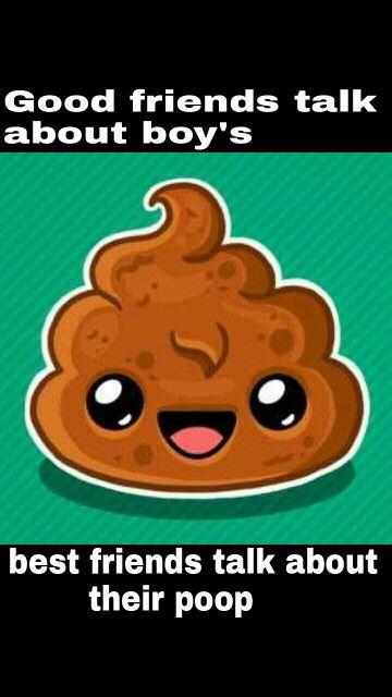 Poop humor, best friends, cute poop