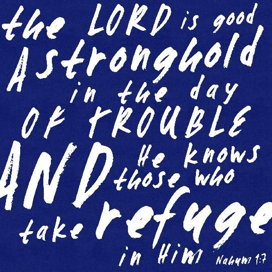 The Lord is my stronghold.
