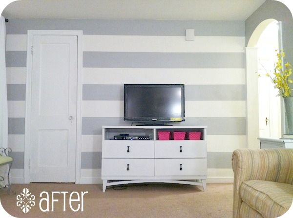 Would love one wall of stripes in light pink. Seems a bit labor intensive, wonder if I could pawn it off on the husband haha.