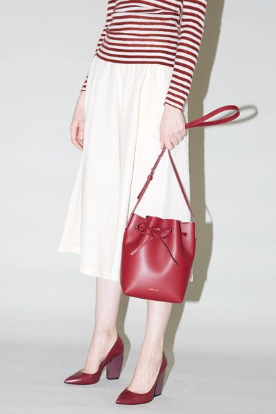 Mansur Gavriel Mini Bucket Bag in Rococo Calf