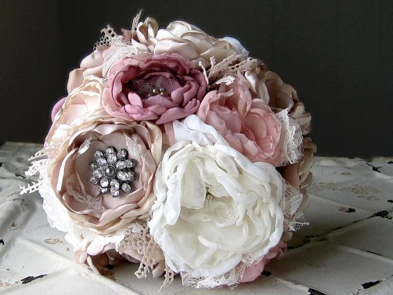 Fabric flower bouquet . Custom listing for J Mills by suzyuyechi