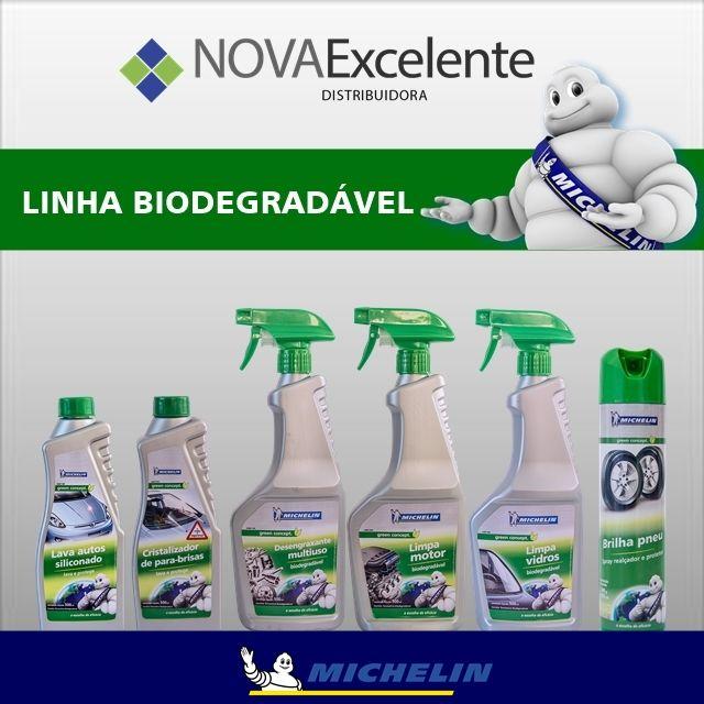 A linha BIODEGRADÁVEL contém produtos que cumprem com a norma internacional ISO 10707 de biodegradabilidade.  São eles: Cristalizador de para-brisas, Limpa vidros, Desengraxante multiuso, Limpa motor, Lava autos siliconado e Brilha pneu.  Teste os produtos da linha biodegradável e tenha preços especiais para revendedores!  (21) 2410-0086 / 3317-0000 / 99895-3012 whatsapp