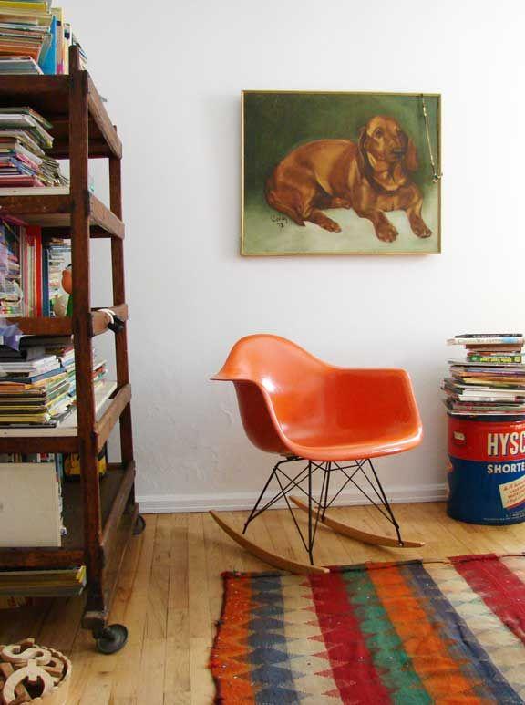 image via the boo and the boy via aesthetic outburst | Fiberglass Arm Shell Rocker | http://modernica.net/rocker-arm-shell.html