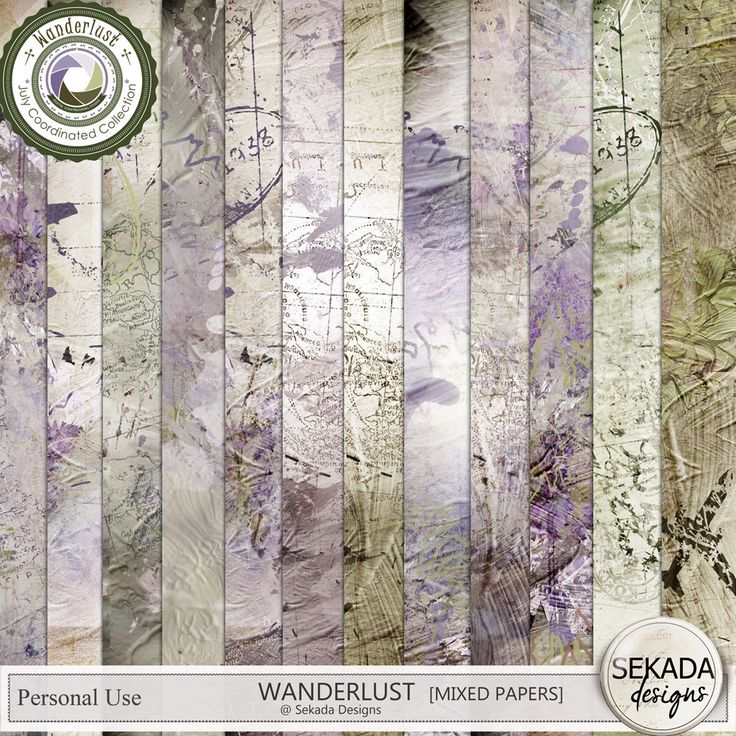 Personal Use :: Paper Packs :: Wanderlust - Papers