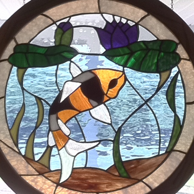 1000 images about stained glass fish other marine for Stained glass fish