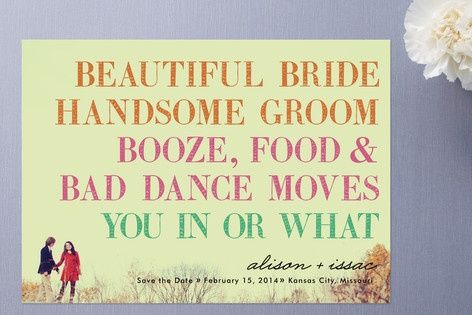 Love this save the date! fabulous-invitations-announcements-and-more