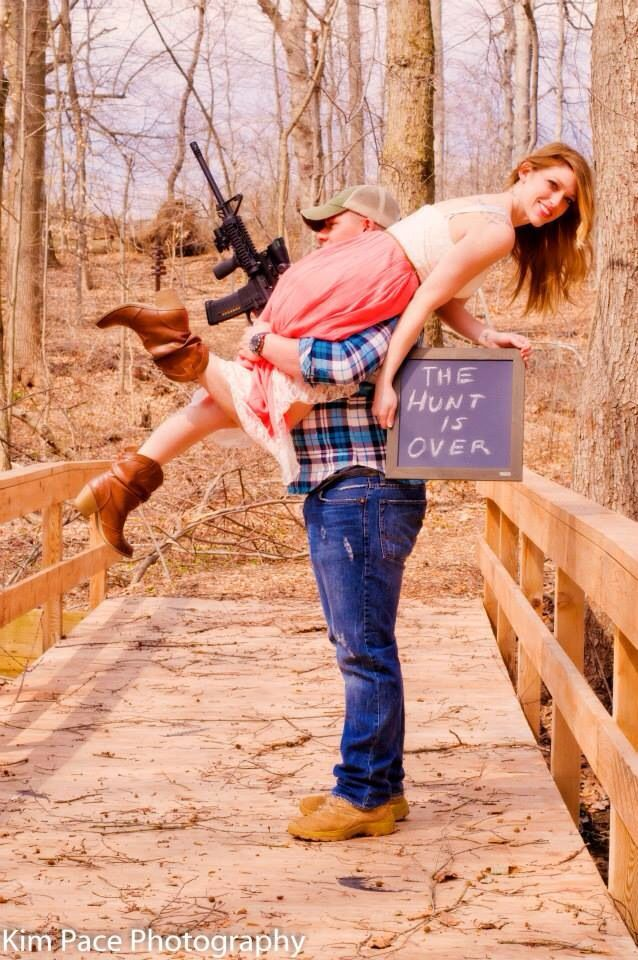 Engagement photo The Hunt Is Over