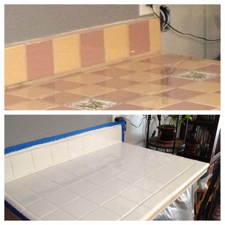 tile counter painted with white epoxy paint proyectos. Black Bedroom Furniture Sets. Home Design Ideas