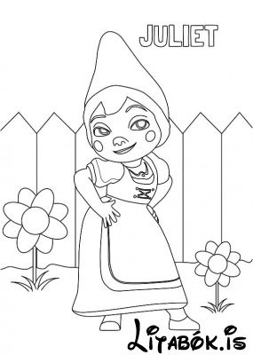 gnomeo juliet julia 03 - Painting Sheet For Kids